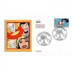 Timbre N° 1588A Neuf ** - Le cirque de G. Seurat