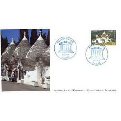Timbre N° 1451 Neuf ** - Wervik et pigeonneau romain de pierre blanche