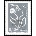 Timbre N° AA7c Neuf - Type Marianne du bicentenaire + vignette