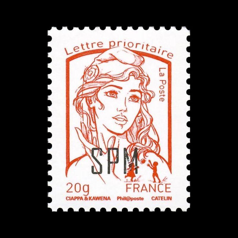 Timbre N° 4001A Neuf ** personnalisé avec vignette les timbres personnalisés