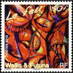 Feuillet 6 timbres oblitérés - Thème champignons