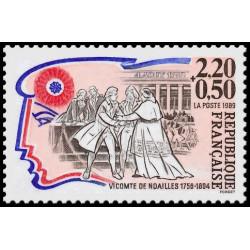 Timbre N° 3225b Neuf ** - Journée du timbre 99 - Timbre avec vignette