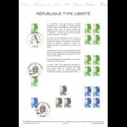 Timbre N° 519 Neuf ** - Marianne du bicentenaire 3 f. 20 bleu