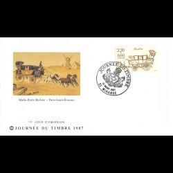 CEF soie - 150e anniv bourse aux timbres (série de 2 env) - oblit 13/5/2010 Paris