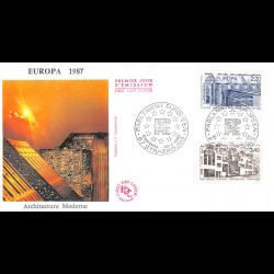 CEF soie - Conseil de l'europe, 60e anniv convention droits de l'homme, oblit 17/9/10 Strasbourg